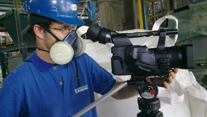 Esteban Gutiérrez at work in the Formuquisa Quemical Plant for a Corporate Video.
