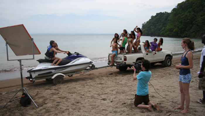 Shooting On Location at Mantas beach with french Director Clement Galle of Megaforce.