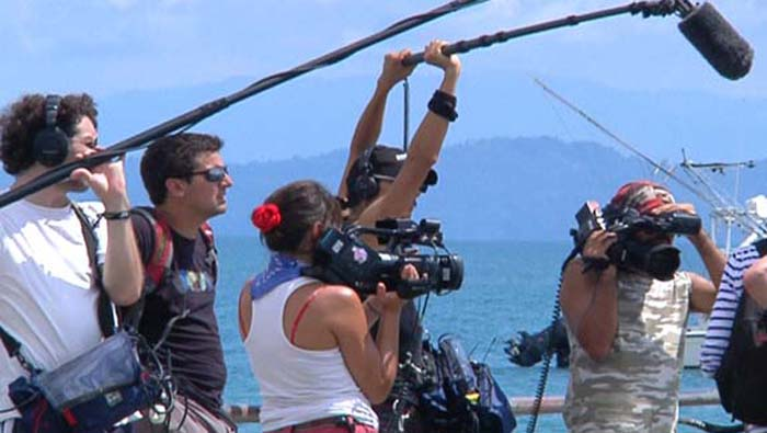 Three Discovery film crews recorded every moment of the show, under the strict eye of the Director.