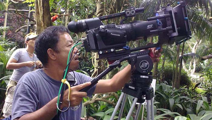 The A1 three dimension camera is Panasonic's newest market launch, to be released in the last quarter of 2010, here the prototype is tested in Costa Rica.